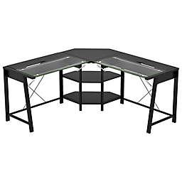 Z-Line Designs Vance L Desk in Black