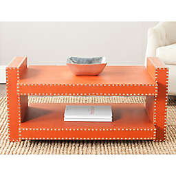 Safavieh Garson Accent Table in Orange