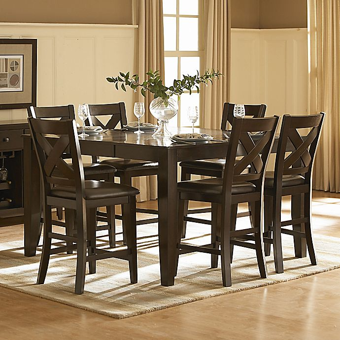 7 Piece Counter Height Dining Room Sets: Verona Home Avers 7-Piece Counter Height Dining Room Set