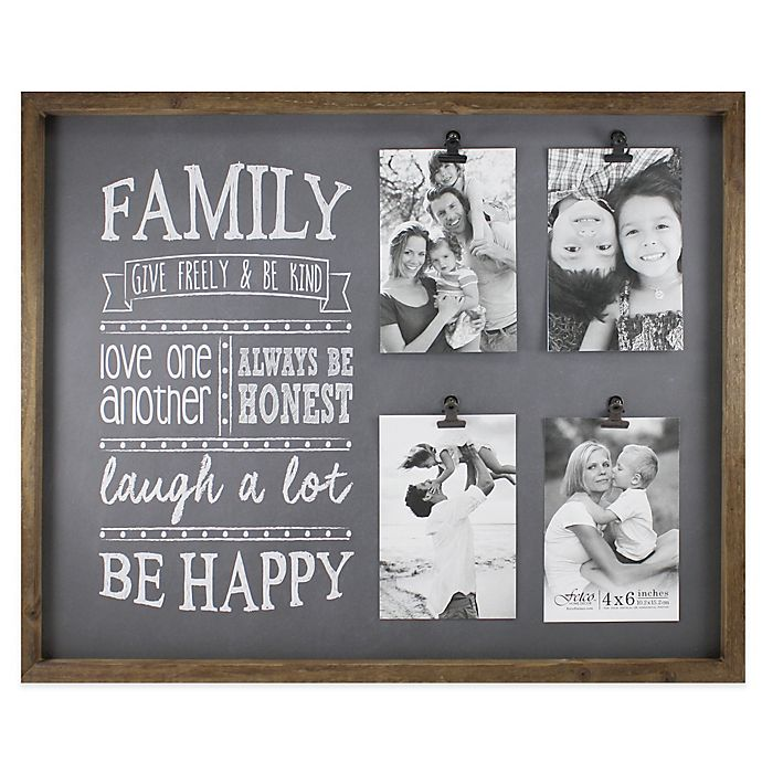 Fetco Home Décor Abbott 4 Photo Family Collage Frame Bed Bath