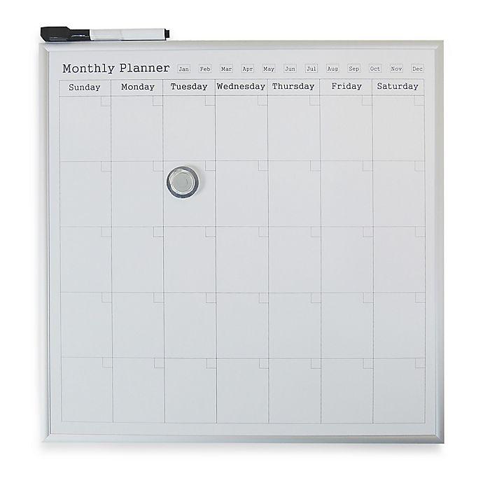 Alternate image 1 for Monthly Calendar Dry Erase Board in White
