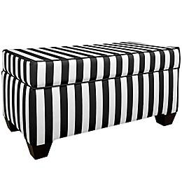 Skyline Furniture Storage Bench in Canopy Black/White