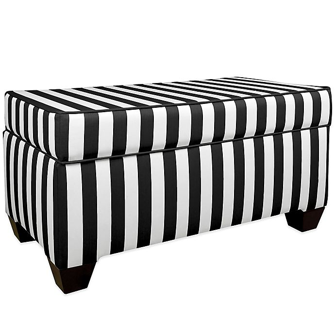 Alternate image 1 for Skyline Furniture Storage Bench in Canopy Black/White