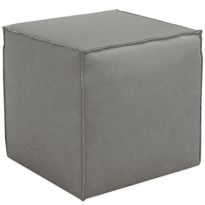 Alternate image 1 for Skyline Furniture French Seam Cocktail Ottoman in Linen Grey