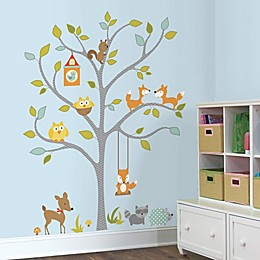 RoomMates Woodland Fox and Friends Tree Giant Peel and Stick Wall Decals