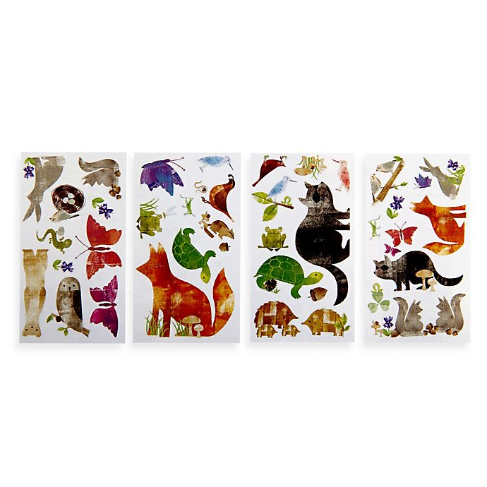 Alternate image 1 for RoomMates Woodland Friends Peel and Stick Wall Decals