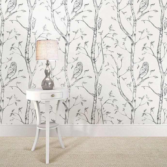 Wallpops Nuwallpaper Woods Peel Stick Wallpaper In Grey Bed Bath Beyond