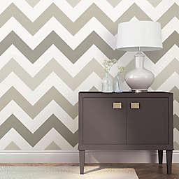WallPops!® NuWallpaper™ ZigZag Peel & Stick Wallpaper in Taupe