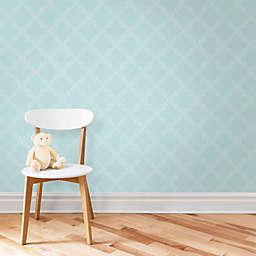 WallPops!® NuWallpaper™ Quatrefoil Peel & Stick Wallpaper in Blue