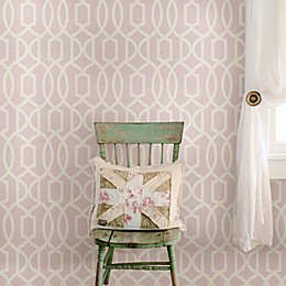 WallPops!® NuWallpaper™ Grand Trellis Peel & Stick Wallpaper in Pink