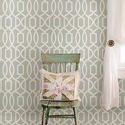 WallPops!® NuWallpaper™ Grand Trellis Peel & Stick Wallpaper in Grey