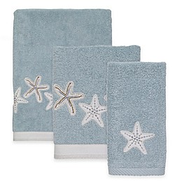 Avanti Sequin Shells Mineral Bath Towel Collection