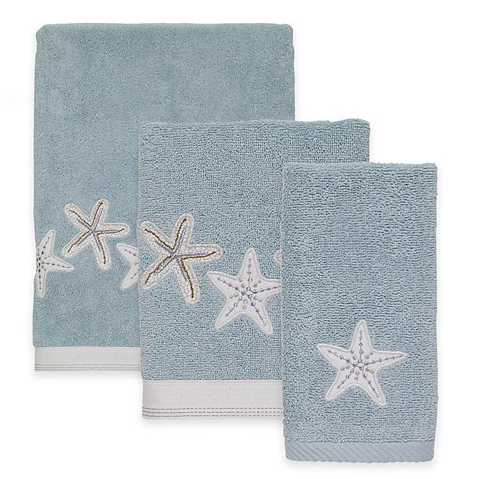 Alternate image 1 for Avanti Sequin Shells Mineral Bath Towel