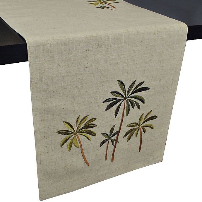Palm Tree Embroidered 70 Inch Table Runner Bed Bath Amp Beyond