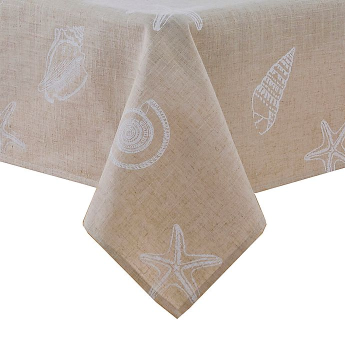 Alternate image 1 for Stamped Shells Tablecloth