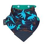 Cheeky Chompers® Neckerchew® Dino Friends 2-in-1 Teething Bandana Bib in Navy/Aqua/Green