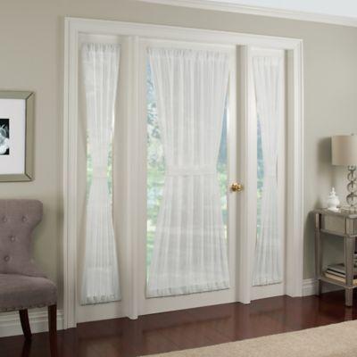 crushed voile rod pocket door panel bed bath beyond. Black Bedroom Furniture Sets. Home Design Ideas