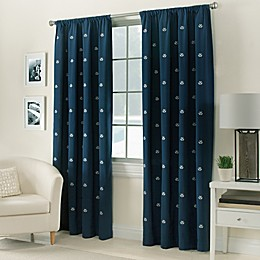 Crossed Anchors Rod Pocket Window Curtain Panel