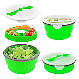 SmartPlanet Eco Collapsible Salad Bowl Deluxe Meal Kit