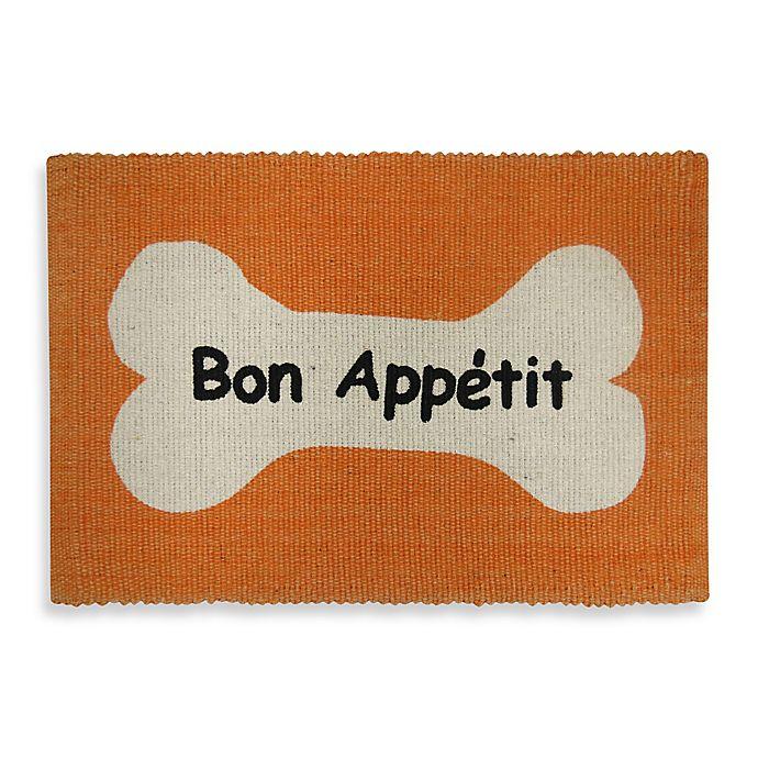 Alternate image 1 for Park B. Smith Bone Appetit Pet Mat in Orange