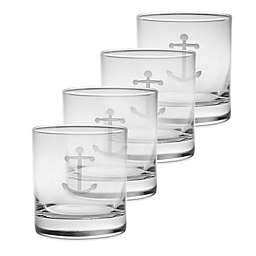 Rolf Glass Anchor Double Old Fashioned Glasses (Set of 4)