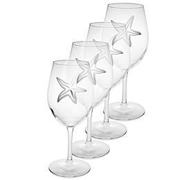 Rolf Glass Starfish All Purpose Wine Glasses (Set of 4)