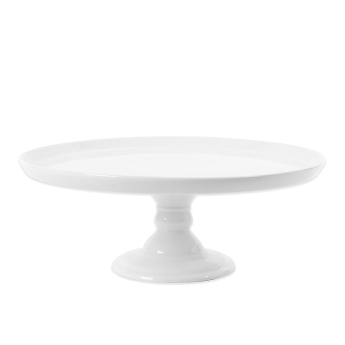 Alternate image 1 for Everyday White®  by Fitz and Floyd® Medium Footed Cake Server