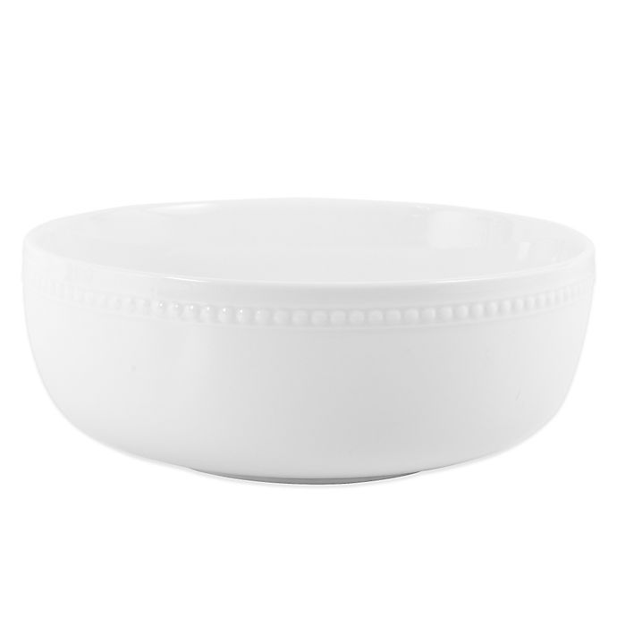 Alternate image 1 for Everyday White®  by Fitz and Floyd® Beaded Serving Bowl
