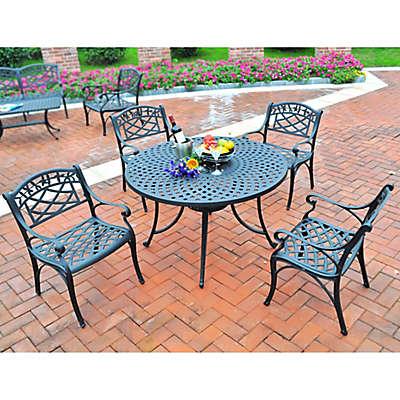 Crosley 5-Piece Sedona 42-Inch Outdoor Dining Set in Black