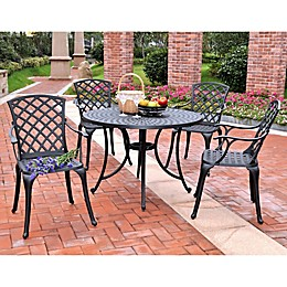 Crosley 5-Piece Sedona 41-Inch Round Outdoor Dining Set