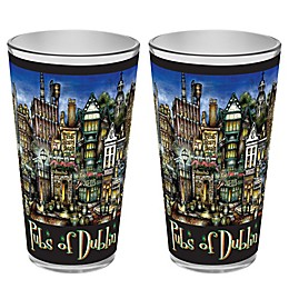 pubsOf. Dublin, Ireland Pint Glasses (Set of 2)