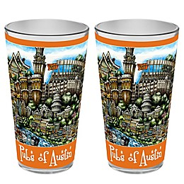 pubsOf. Austin, Texas Pint Glasses (Set of 2)