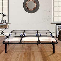 E-Rest Lumbar Adjustable Wood & Metal Platform Bed Frame