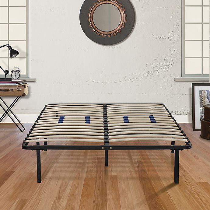 Alternate image 1 for E-Rest  Lumbar Adjustable Twin Wood & Metal Platform Bed Frame