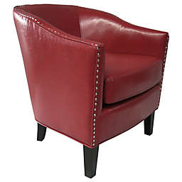Madison Park Fremont Shaped Barrel Armchair in Red