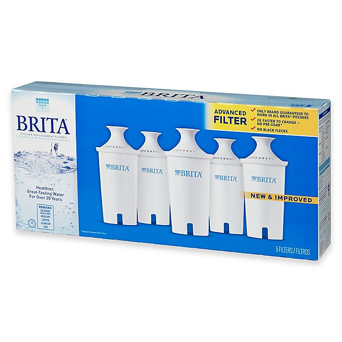 Alternate image 1 for Brita® Pitcher 5-Pack Advanced Replacement Water Filters