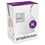 simplehuman® Code K 60-Pack 35-45 Liter Custom Fit Liners