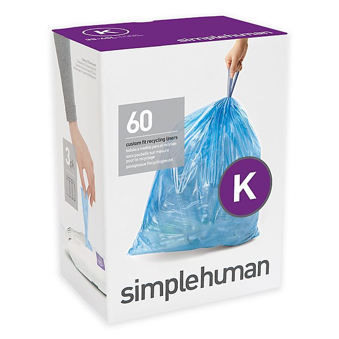 Alternate image 1 for simplehuman® Code K 60-Pack 35-45-Liter Custom Fit Recycling Liners