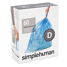 Simplehuman Code D 60 Pack 20 Liter Custom Fit Recycling Liners