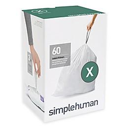 simplehuman® Code X 60-Pack 80-Liter Custom Fit Liners