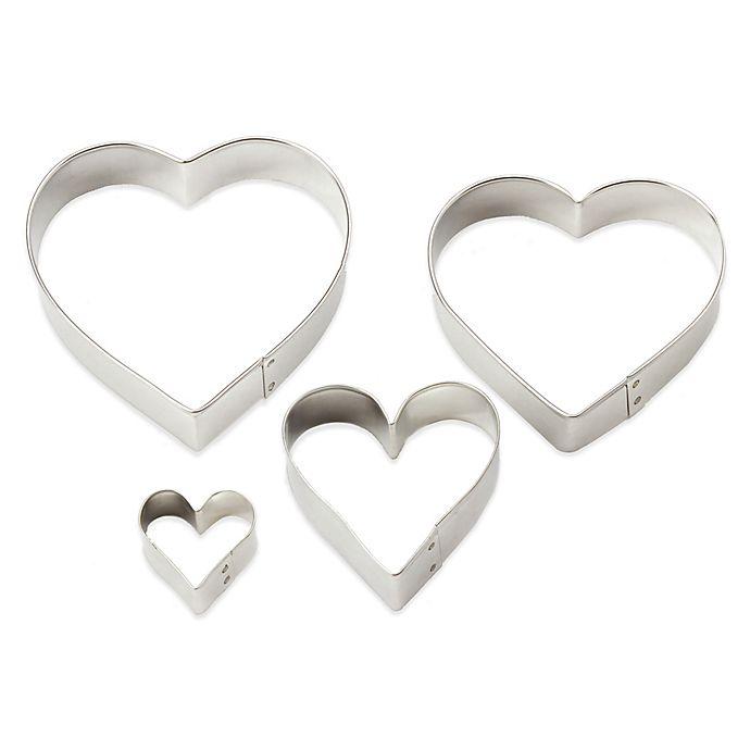 Alternate image 1 for Ann Clark 4-Piece Heart-Shaped Cookie Cutter Set