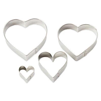 Ann Clark 4-Piece Heart-Shaped Cookie Cutter Set