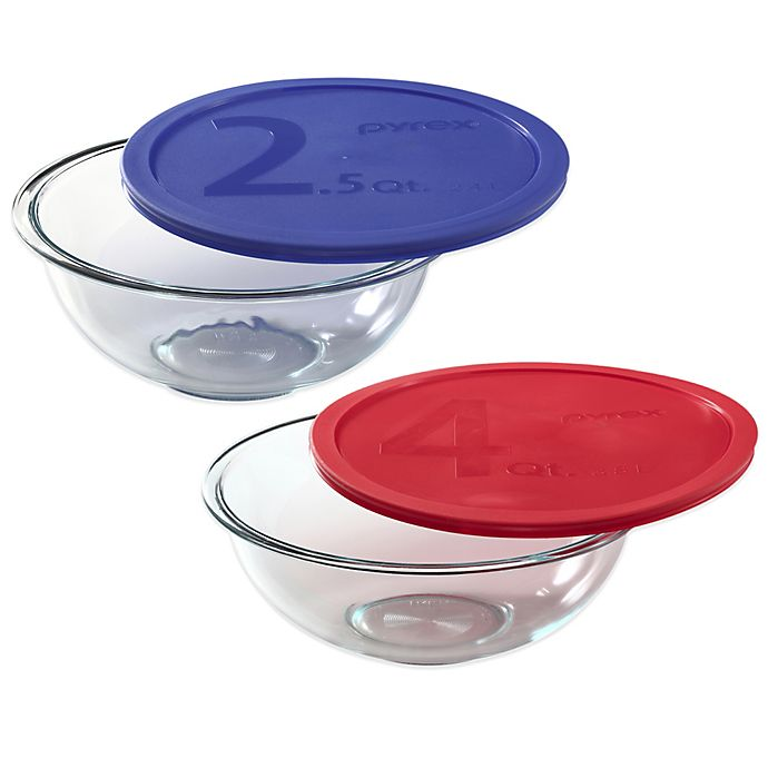 Alternate image 1 for Pyrex® Glass Mixing Bowl with Plastic Lid