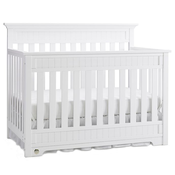 Alternate image 1 for Fisher-Price® Lakeland 4-in-1 Convertible Crib in Snow White