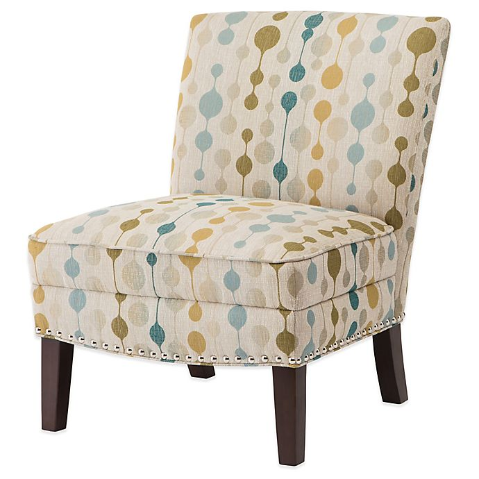 Madison Park Curved Back Slipper Chair In Natural Multi