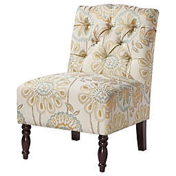 Madison Park Lola Tufted Armless Chair in Multicolor