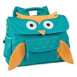 Bixbee Animal Pack Owl Backpack in Aqua