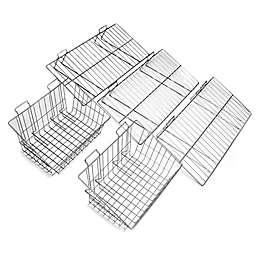 Proslat 5-Piece Shelf & Basket Kit in Silver