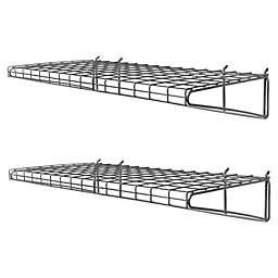 Proslat 2-Pack Metal Wire Shelf in Silver