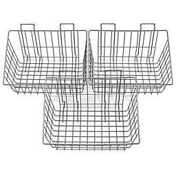 Proslat 3-Pack Heavy-Duty Wire Basket in Silver
